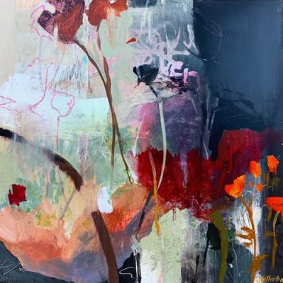 Fresh Off The Easel Contemporary Botanical Landscape Painting Abstract Art Wild And Passionate Abstract Art Landscape Abstract Art Painting Abstract Artists