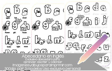 Abecedario En Ingles Para Colorear Imprimir Y Aprender Con Tres Laminas Diferentes El Abecedario Para Colorear Abecedario Con Words Math Word Search Puzzle