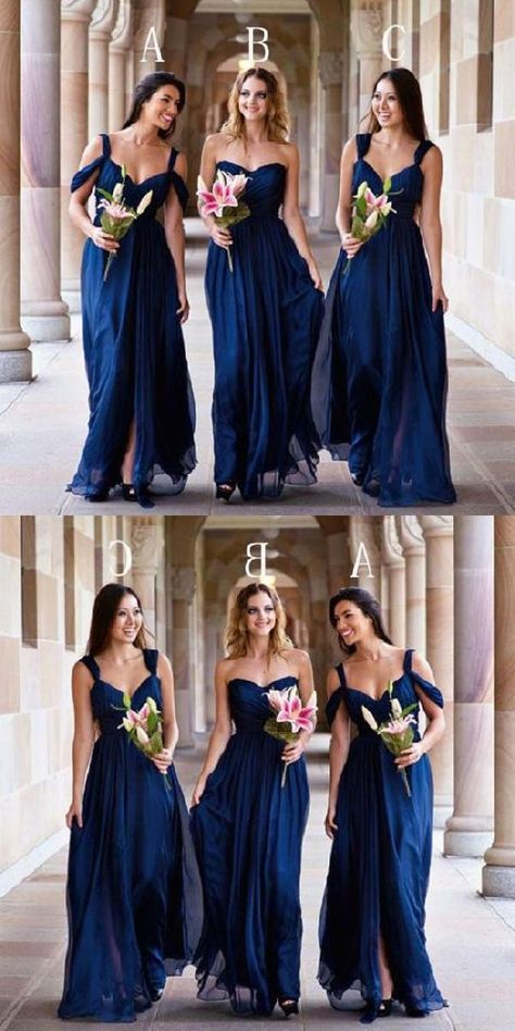 Customized Comfortable Bridesmaid Dresses For Cheap, Bridesmaid Dresses Blue, Chiffon Bridesmaid Dresses Blue Bridesmaid Dress Chiffon Party Dress Bridesmaid Dress Cheap Wedding Dresses 2018