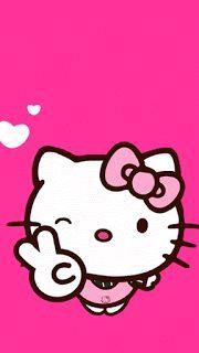 Hello kitty fondo rosa
