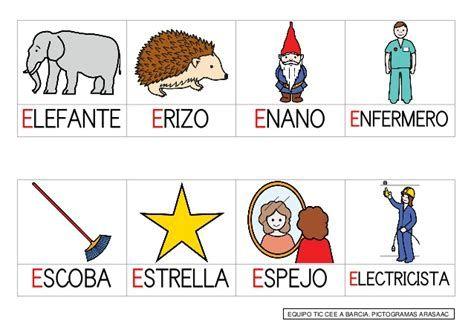 Palabras Con La Letra E Actividades De Lectura Preescolar Actividades De Letras Imagenes Para Estados