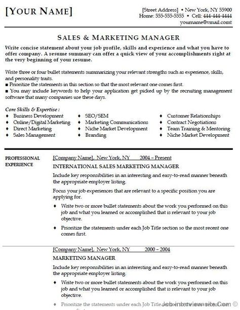 Marketing Manager Resume Objective It Resume Objective  Resume Samples  Pinterest  Resume Objective