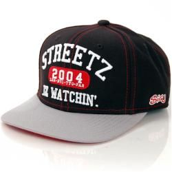 Streetz Iz Watchin College Snapback Black Grey StarterStarter