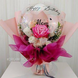 Flower Balloon Bouquet DIY kit Premium Gift Heart Balloon Anniversary Engagement Birthday Mother/'s day Valentine/'s day