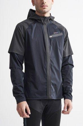 Craft Men's Lumen Hydro Running Jacket Black M in 2019