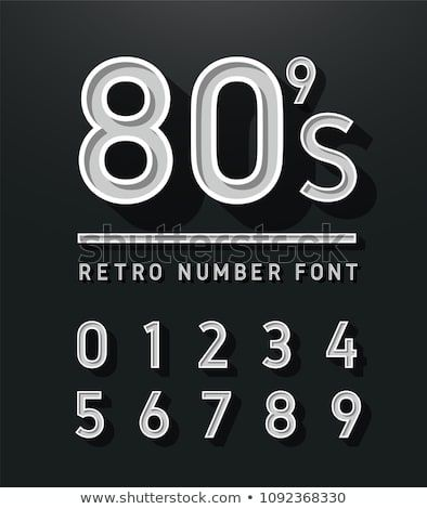 80 S Number Vintage Sans Serif Alphabet Retro Typography Font Classic Style Retro Typography Numbers Typography Retro Font