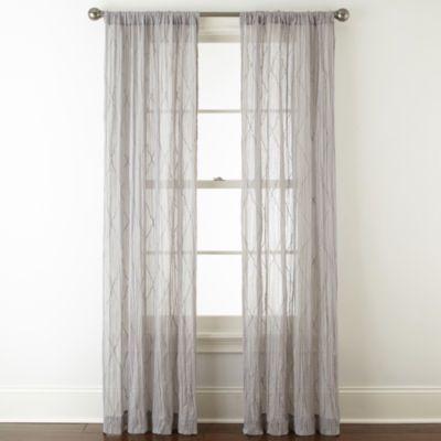 Jcpenney Sutton Place Antique Satin Rod Pocket Curtain Panel