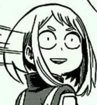 Uraraka Anime Meme Face My Hero Academia My Hero