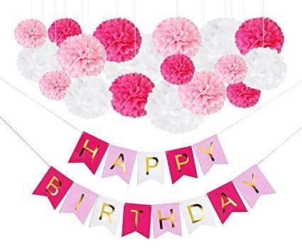 Octoritti DIY Pink Birthday Party Decorations