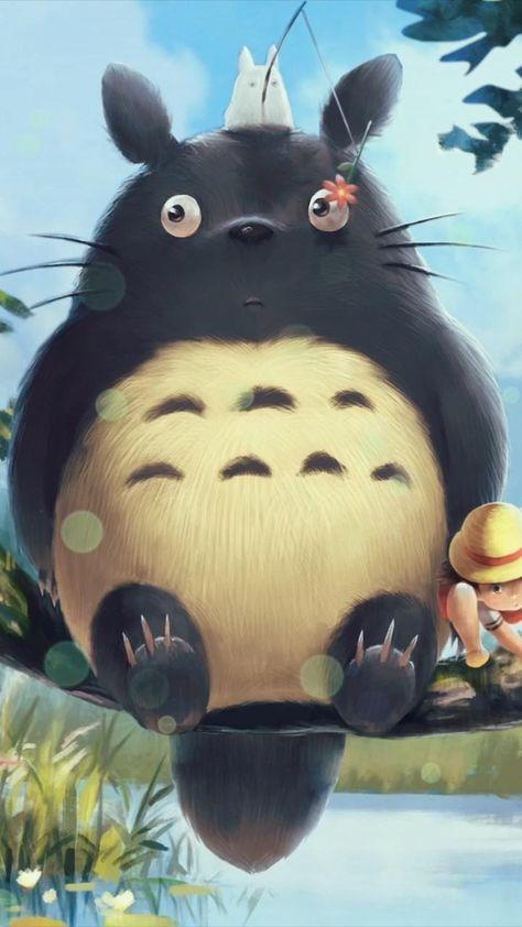 Totoro Fishing Adorable