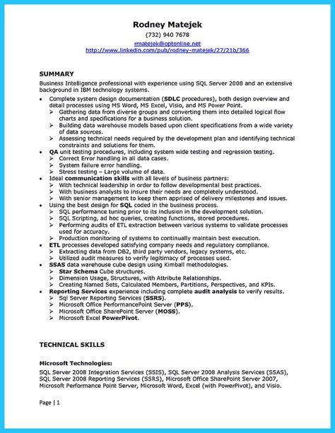 nice How Professional Database Developer Resume Must Be Written - ssrs sample resume