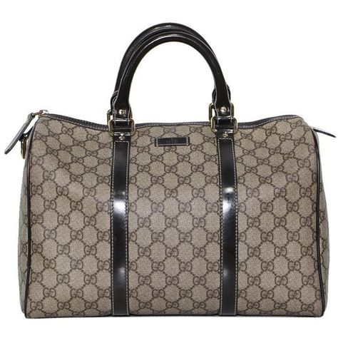 66d47f40eb85 Pre-owned Authentic Gucci Beige/Ebony GG Coated Canvas Medium Joy Boston Bag
