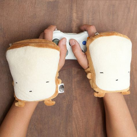 Smoko Wireless Cute Chibi Toast Pillow Glove Handwarmer Heating Pad Desk