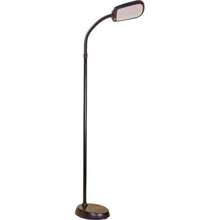 Latitude Run Reeder Bright Reader Natural Daylight Full Spectrum 60 Led Task Floor Lamp Task Floor Lamp Floor Lamp Lamp