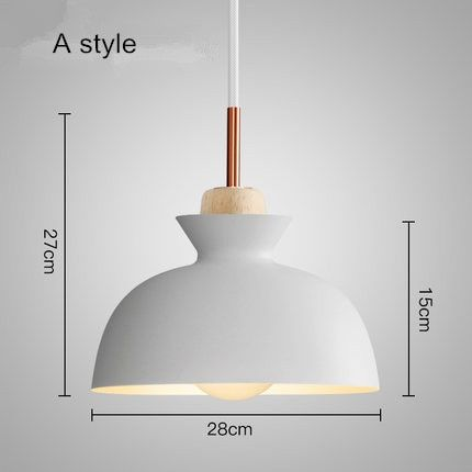 Online Shop Modern Nordic Pendant Lights Scandinavian Loft Pendant Lamp Wood Metal Lampshade Aluminum Pendant Lamp Pendant Light Fixtures Modern Pendant Light
