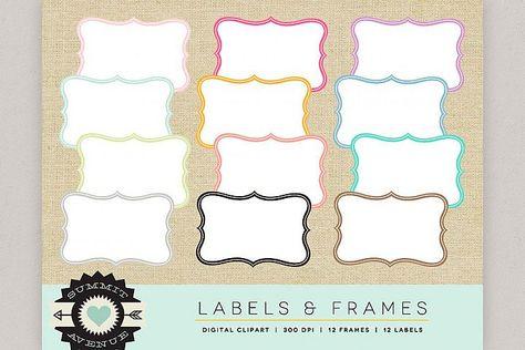 Download Label Frame Shapes Digital Borders Labels Badges And F 374134 Decorations Design Bundles Digital Borders Frame Label Shapes