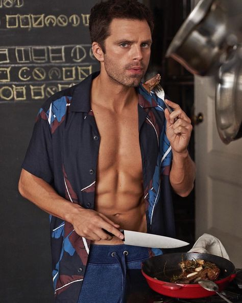 "Sebastian Stan Fan on Instagram: ""There's literally nothing about this photo not to like, y'know? The KNIVES ARE LITERALLY OUT. 🤯 . 📸: @carterbedloesmith for @menshealthmag…"""
