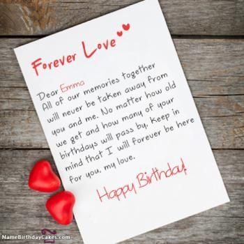 Happy Birthday Emma Cakes Cards Wishes Birthday Wishes For Lover Romantic Birthday Cards Birthday Wishes With Name