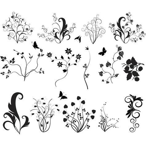 vector   Floral ornate curls vector   Free Stock Vector Art & Illustrations ...