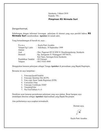 Contoh Surat Lamaran Kerja Lulusan Smk Multimedia Pimpinan Surat Multimedia
