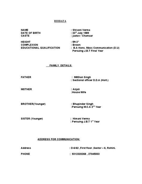 hindu marriage biodata format - Emayti australianuniversities co