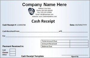 Cash Receipt Form Receipt Template Words Word Template