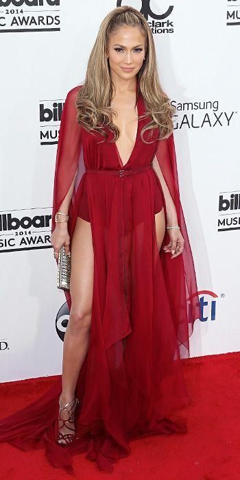 Jennifer Lopez in Donna Karan at the Billboard Music Awards 2014 - Pin for Later: Attention Wolf! Jennifer Lopez is the hottest little red riding hood ever Jennifer L -