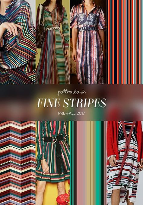 Get ready for stripes. Issey Miyake / Diane Von Furstenberg / Cinq á Sept / Colorful Stripes by PatternDesignTr / Sweet Stripe – Zig Zag by Darja Miklauzic / Etro / Asymmetrical Vector Stripe by Becky Bailey / Iceberg