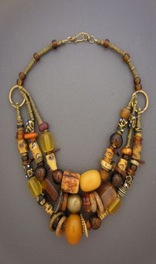 Two Ethnic Necklaces from north Africa handmade vintage.