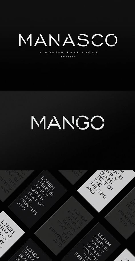 Manasco -A Modern Font