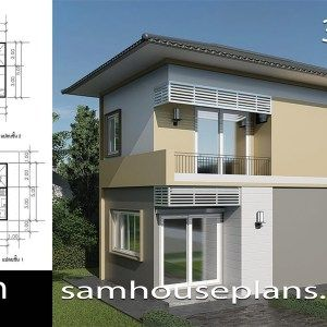 House Plans 8x6 5m With 3 Bedrooms Sam House Plans House Plans Bungalow House Design Modern Small House Design