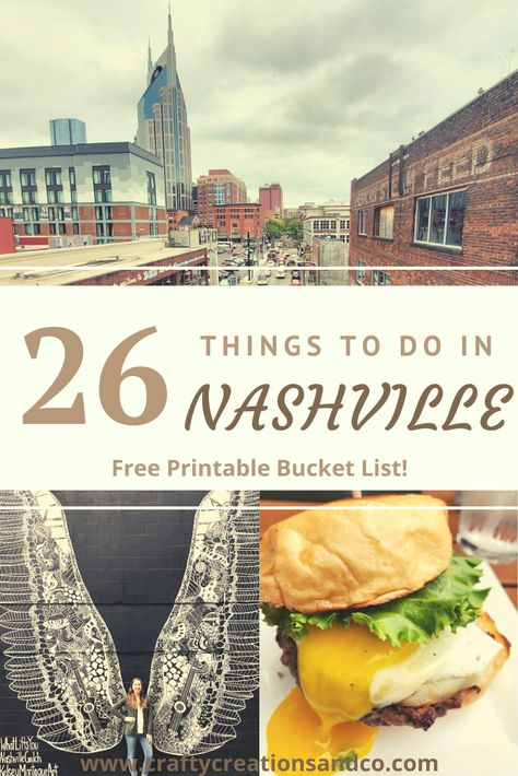 26 Bucket List Things To Do In Nashville, Tennessee This is the perfect travel guide for a weekend in Nashville, TN! From great food at … Weekend In Nashville, Nashville Vacation, Attractions In Nashville Tn, Best Restaurants In Nashville, Nashville Must Do, Nashville Things To Do, Nashville Food, Tennessee Vacation Kids, Visit Tennessee