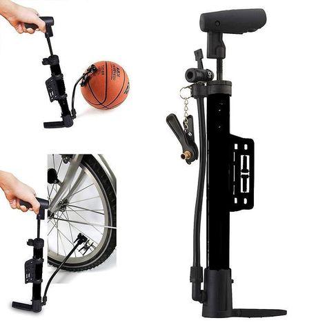 Mini Design Cycling Bicycle Bike High Pressure Air Stick Pump Inflator Silver