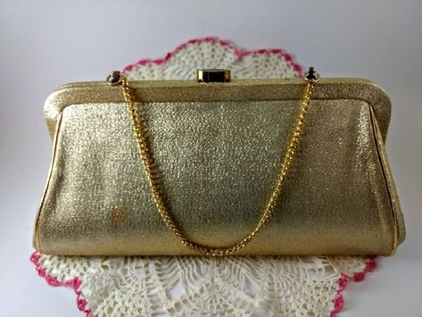 Clutch Purse with chain; by Paramount of Montreal; Sparkly