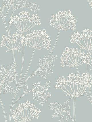 John Lewis Partners Cow Parsley Wallpaper Mineral Hall Wallpaper Wallpaper Bedroom Bathroom Wallpaper