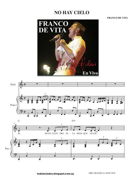 No Hay Cielo Franco De Vita Franco De Vita Partituras Música Latina