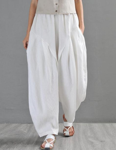 Womens Pants, Linen trousers, Loose Fitting #clothing #women #pants @EtsyMktgTool #womenspants #linenpants #longpants #loosefittingpants
