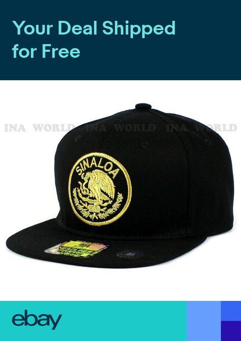 ad8da0d5e0c MEXICAN hat Snapback MEXICO Federal State Gold Embroidered Baseball cap-  SINALOA