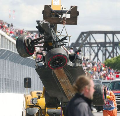 Canadian Grand Prix track worker dies after being run over by crane. So sad to hear this news, condolences to his Family & Friends.