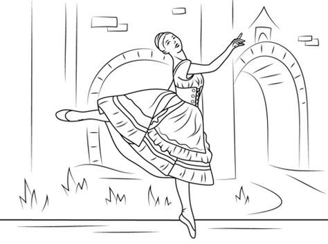 Coppelia Ballet Coloring Page Projects In 2019 Ballerina