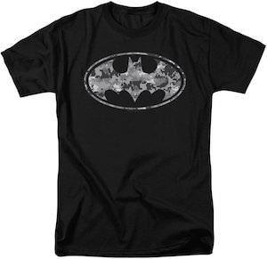 DC COMICS BATMAN ADULT TEE T-SHIRT SHORT SLEEVED BLACK or GRAY