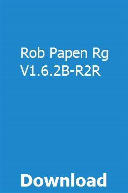 Rob Papen Rg V1 6 2b R2r Download Owners Manuals Repair Guide User Manual