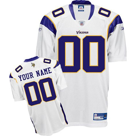 Vikings Personalized Authentic White NFL Jersey (S-3XL)  b99b79b76