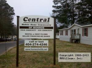 Central Mobile Home Community In Monroe GA Via MHVillage