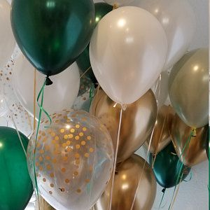 Green and Gold Balloons Sage Green Balloons Light Green Wedding Decor Chrome Gold Balloons  Sage Green Bridal Shower Decor
