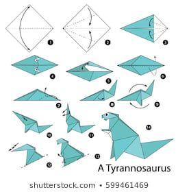 Origami T-Rex easy Dinosaur - Origami easy tutorial - YouTube   280x260