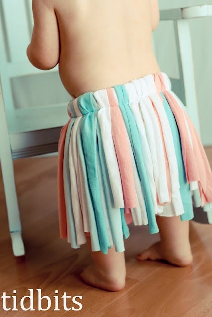 T-shirt tutu. Another take on a tutu for girls who find tulle too itchy