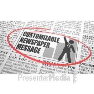 Id 20909 Newspaper Classified Custom Presentation Clipart Clip Art Custom Message Custom