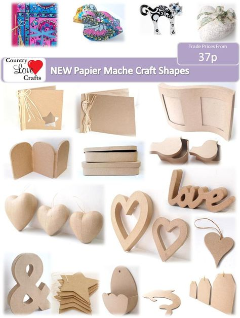 Paint or decorate your own shapes from our range of papier