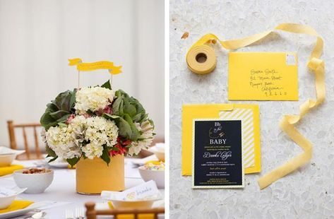 "love the ""bee"" theme of this baby shower!"